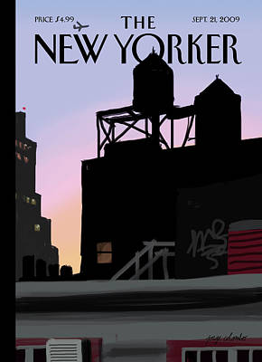 2009 Painting - New Yorker September 21st, 2009 by Jorge Colombo-Gomes