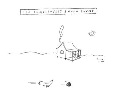 Tumbleweed Drawing - New Yorker January 2nd, 2017 by Liana Finck