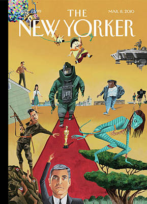 Oscar Painting - New Yorker March 8th, 2010 by Mark Ulriksen
