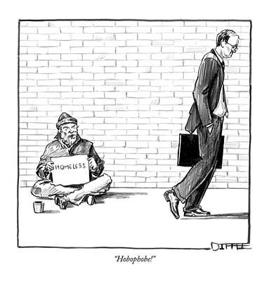 Hobophobe! Art Print by Matthew Diffee