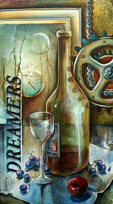 Wine-glass Painting - Untitled by Michael Lang