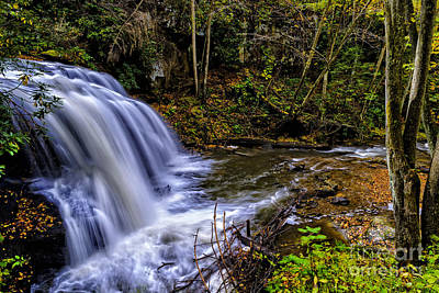 Webster Park Photograph - Upper Falls Holly River by Thomas R Fletcher