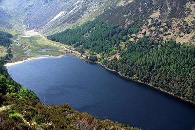 Photograph - Upper Lake At Glendalough, Wicklow by Aidan Moran