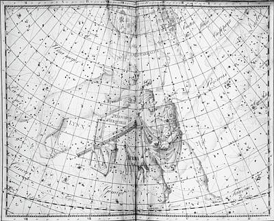 Lynx Wall Art - Photograph - Uranographia Constellations by Royal Astronomical Society/science Photo Library