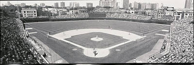 Human Being Photograph - Usa, Illinois, Chicago, Cubs, Baseball by Panoramic Images