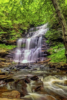 Ricketts Glen Photograph - Usa, Pennsylvania, Benton, Ricketts by Jaynes Gallery