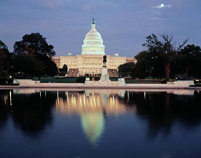 Capitol Building Photograph - Usa, Washington Dc, Capitol Building by Walter Bibikow