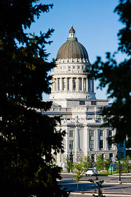 Capitol Building Photograph - Utah State Capitol Building, Salt Lake by Panoramic Images