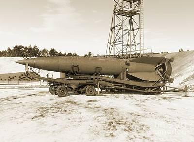 Peenemunde Photograph - V-2 Rocket by Detlev van Ravenswaay