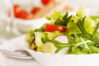 Vegetable Salad Print by Mythja  Photography