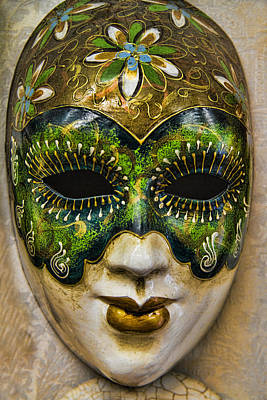 Handmade Photograph - Venetian Carnaval Mask by David Smith