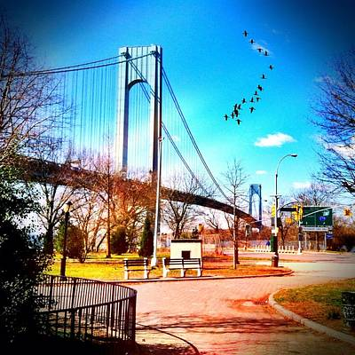 Verrazano Narrows Bridge Art Print by Frank Winters