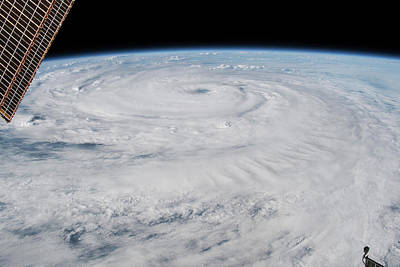 Photograph - View From Space Of Hurricane Florence by Stocktrek Images