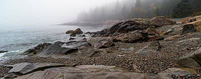 Maine Nature Photograph - View Of Rocks At Coast, Acadia National by Panoramic Images