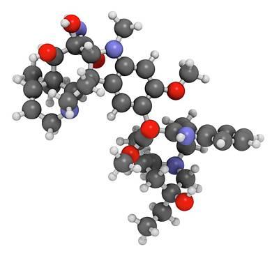 Vindesine Cancer Chemotherapy Drug Art Print by Molekuul