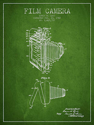 Video Digital Art - Vintage Film Camera Patent From 1948 by Aged Pixel