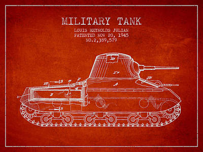 Vintage Military Tank Patent From 1945 Art Print