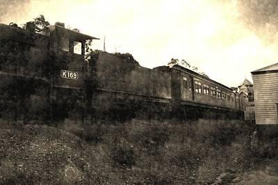 Australian Photograph - Vintage Train by Andrew Hunt