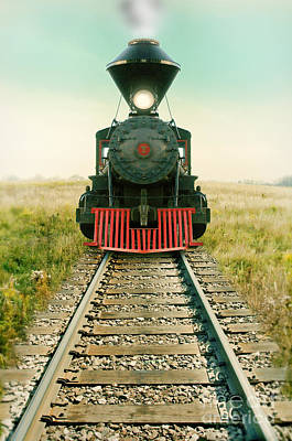 Photograph - Vintage Train Engine by Jill Battaglia