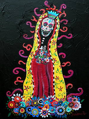 Painting - Virgin Guadalupe by Pristine Cartera Turkus