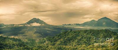 Volcano Batur Art Print