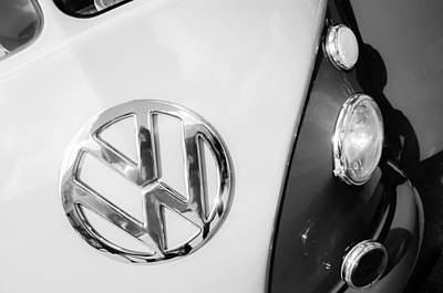 Bus Photograph - Volkswagen Vw Bus Emblem by Jill Reger