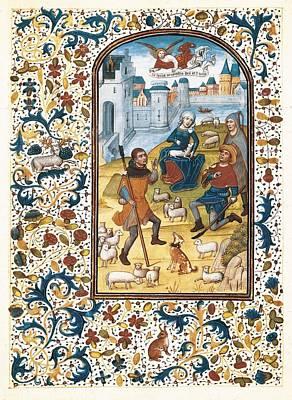 Herding Dog Photograph - Vrelant, Willem 1410-1481. Book by Everett