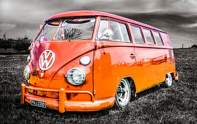Vw Camper Van Art Print by Ian Hufton