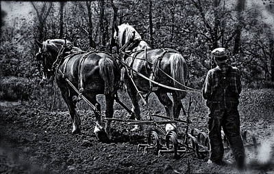 Keck Photograph - Walking The Plow by F Leblanc
