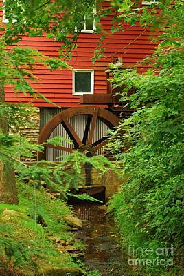 Photograph - Wallace Cross Grist Mill Water Wheel by Bob Sample