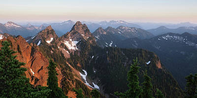 Cascade Mountains Snoqualmie National Forest Photograph - Washington, Cascade Mountains, Mount by Matt Freedman