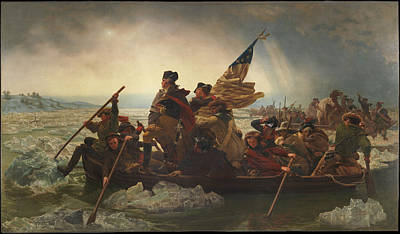 Washington Crossing The Delaware Art Print