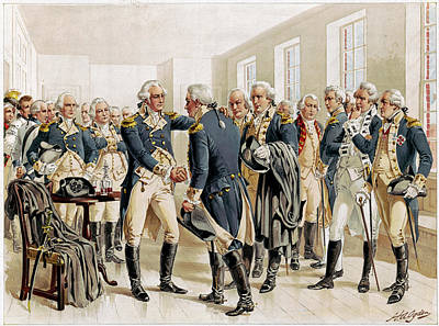 Drawing - Washington Farewell, 1783 by Granger