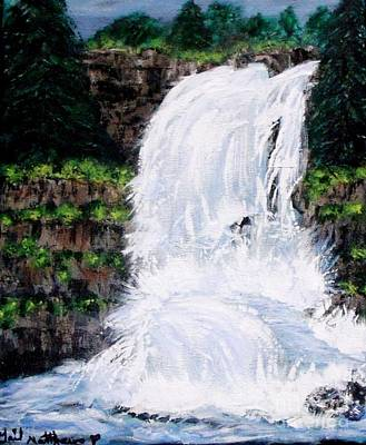 Painting - Waterfalls At Rock Canyon by Gail Matthews