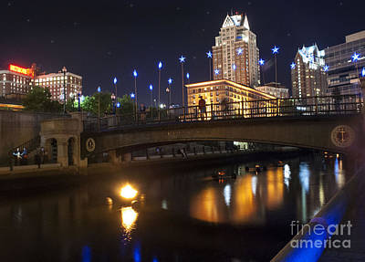 Photograph - Waterfire. Providence Rhode Island by Juli Scalzi