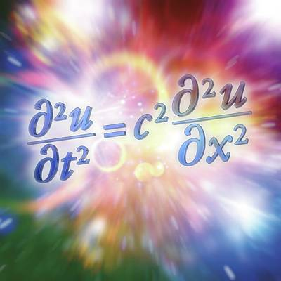 Equation Photograph - Wave Equation by Alfred Pasieka