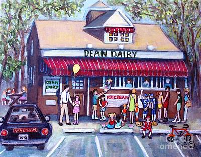 Waltham Painting - We All Scream For Ice Cream by Rita Brown