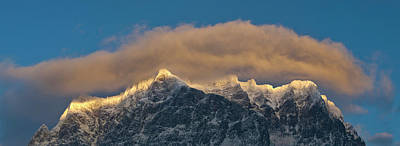 Wetterstein Mountain Chain With Mt Art Print by Martin Zwick