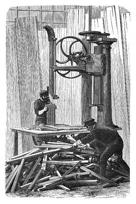 1874 Photograph - Wheel Manufacturing by Science Photo Library