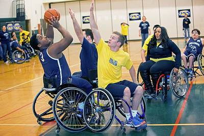 Wheelchair Basketball Art Print