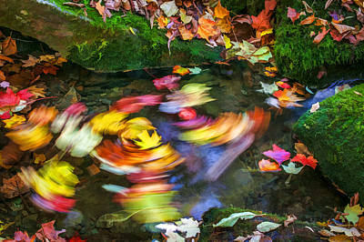 Photograph - Whirlpool Great Smoky Mountain Painted  by Rich Franco