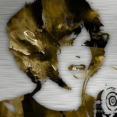 Music Mixed Media - Whitney Houston Collection by Marvin Blaine
