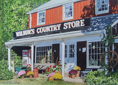 Mixed Media - Wilbur's Country Store by Constance Drescher