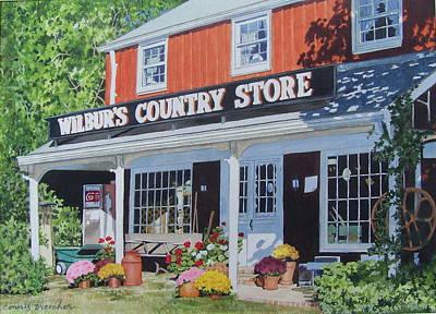 Mixed Media - Wilbur's Country Store by Constance Drescher