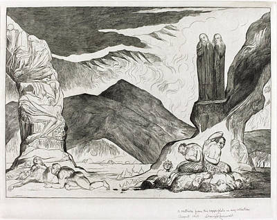 Blake Drawing - William Blake British, 1757 - 1827, The Circle by Quint Lox