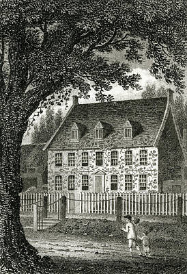 Fence Drawing - William Cowper  English Poet's Home by Mary Evans Picture Library