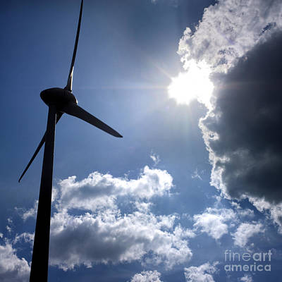 Wind Turbine Print by Bernard Jaubert
