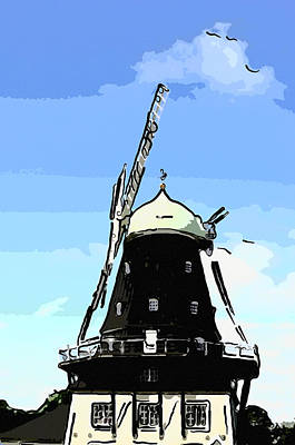 Windmill Art Print by Tommytechno Sweden