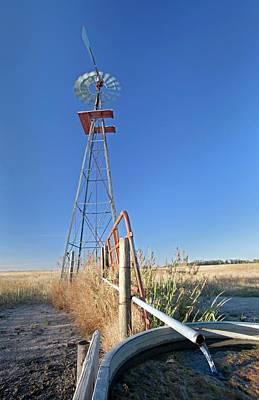 Windmill Water Pump Art Print by Jim West