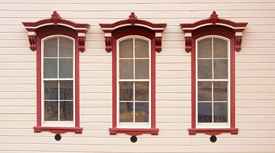 Photograph - 3 Windows Old School  by Michael Flood